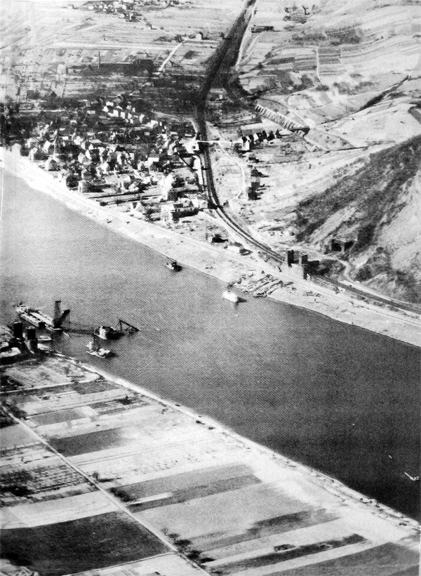 Remagen Bridgehead. Photographed March 27, 1948 for the Historical Division SS USA by the 45th Reconnaissance Squadron under the supervision of Major J.C.Hatlem