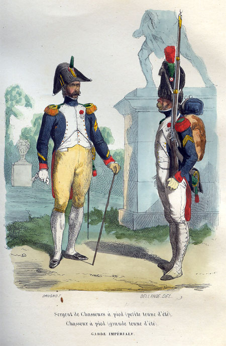 Sergent de Chasseurs a pied. Chasseur a pied. Garde Imperiale