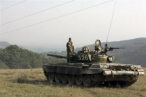 South-Ossetian T-72 on position