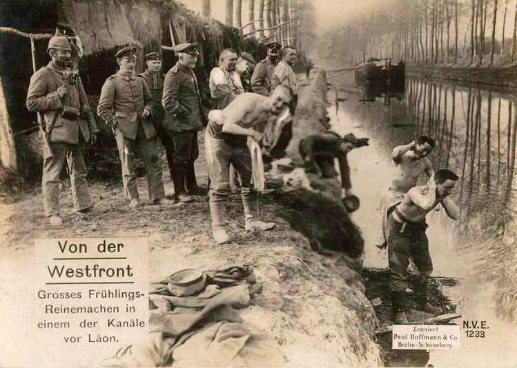 Western front: Big spring clean-up in one of the canals near Lâon.