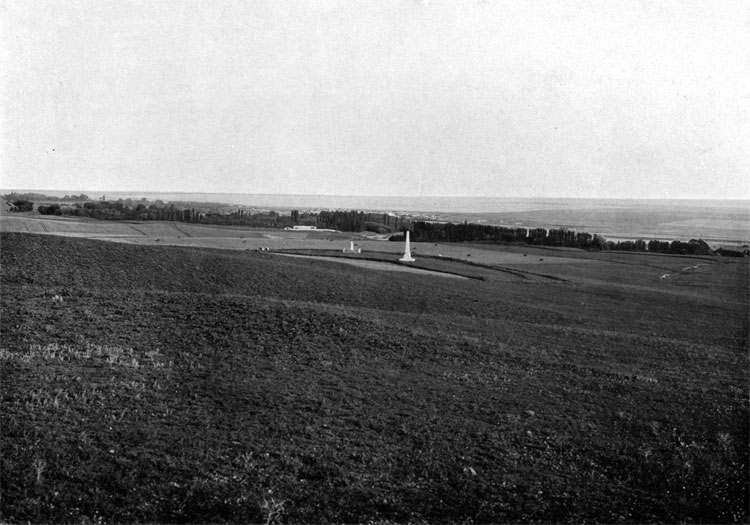 View from the heights where Prince Menshikov was standing during the battle